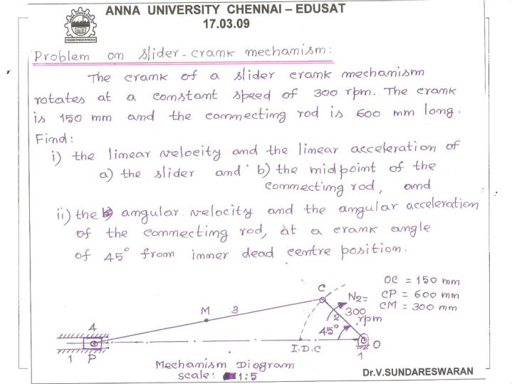 A body m having relative plane motion with a reference body n is shown in figure