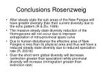 conclusions rosenzweig