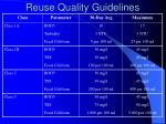 reuse quality guidelines