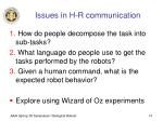 issues in h r communication