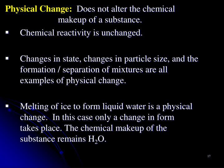 Physical Change: