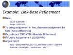 example link base refinement1