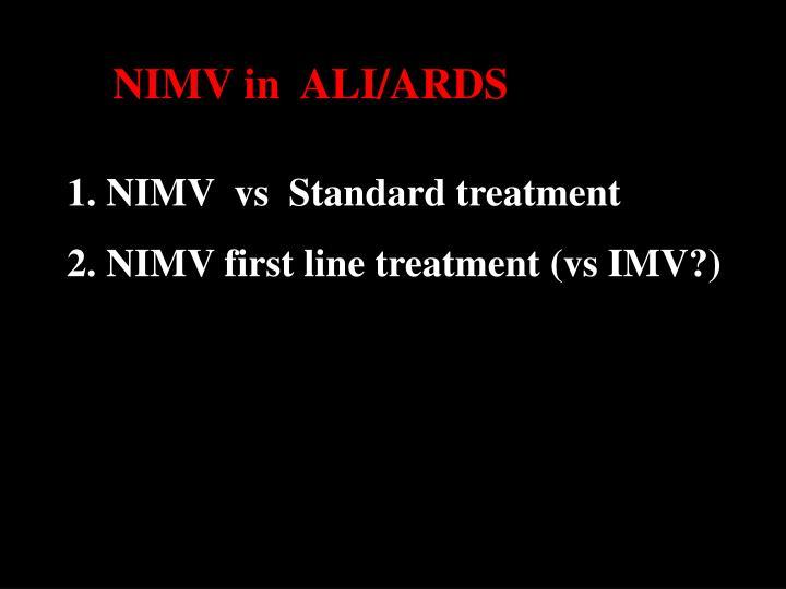 NIMV in  ALI/ARDS