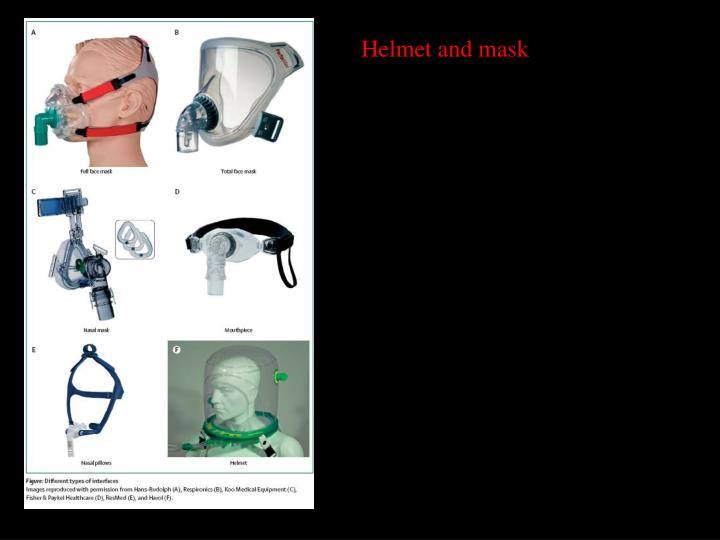 Helmet and mask