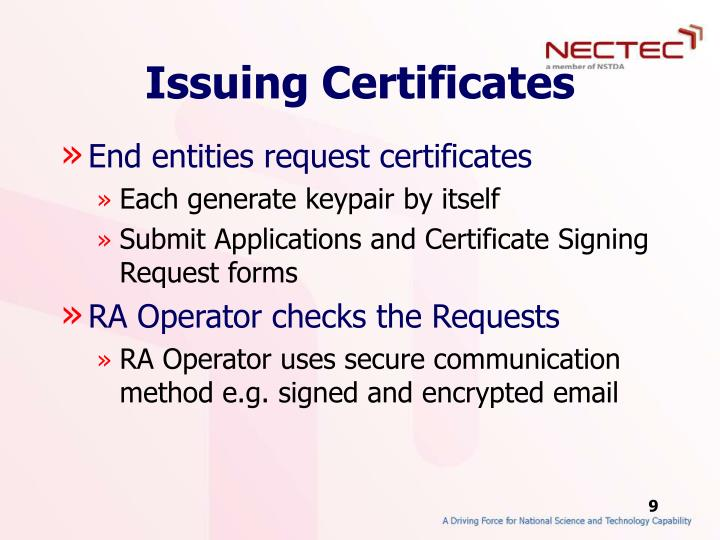 Issuing Certificates