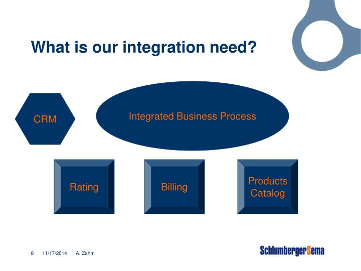 What is our integration need?