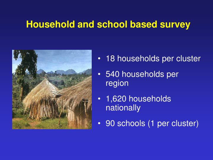 Household and school based survey