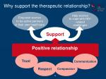 why support the therapeutic relationship