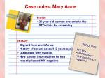 case notes mary anne