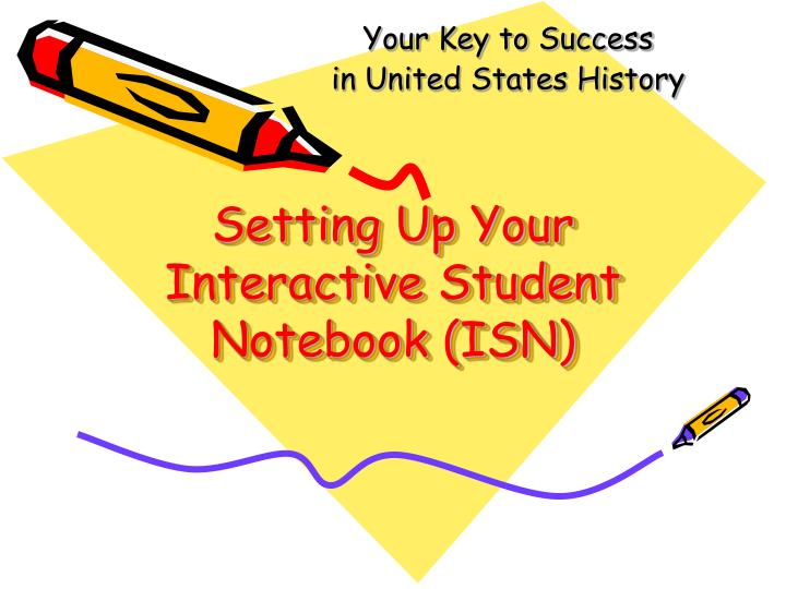 setting up your interactive student notebook isn n.