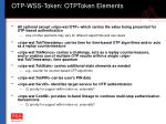 otp wss token otptoken elements