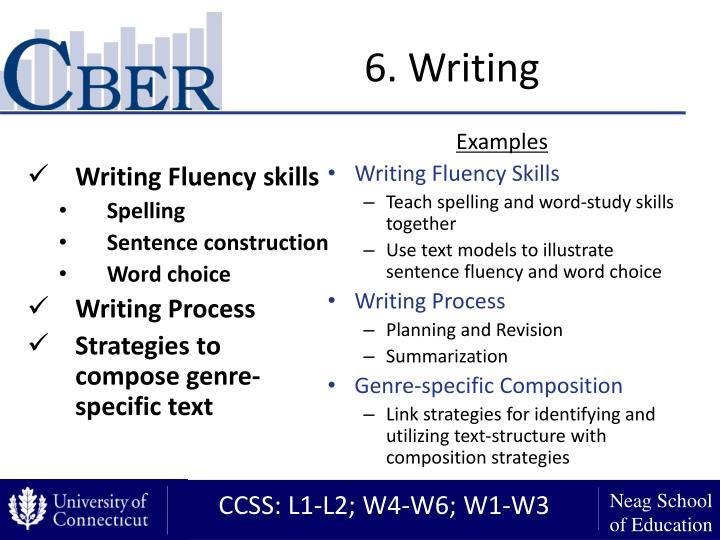 6. Writing