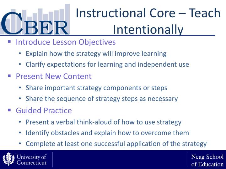 Instructional Core – Teach Intentionally