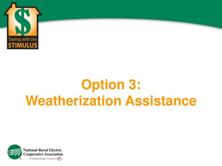 Option 3: