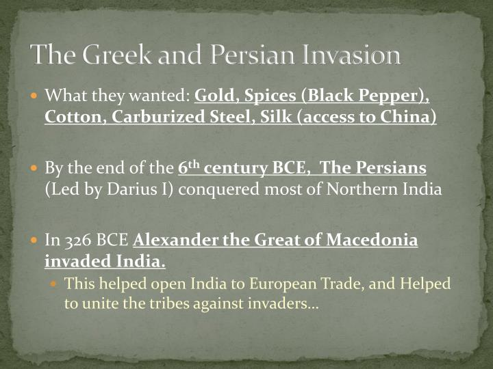 The greek and persian invasion