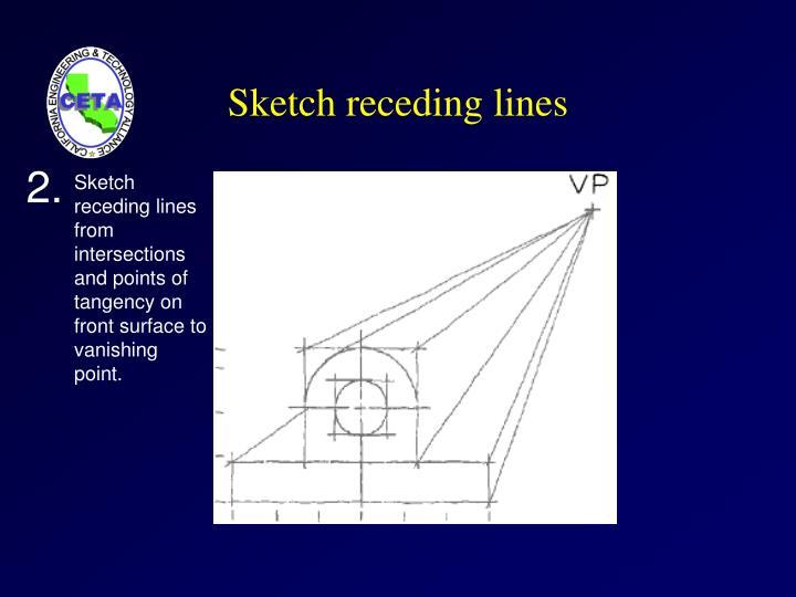 Sketch receding lines