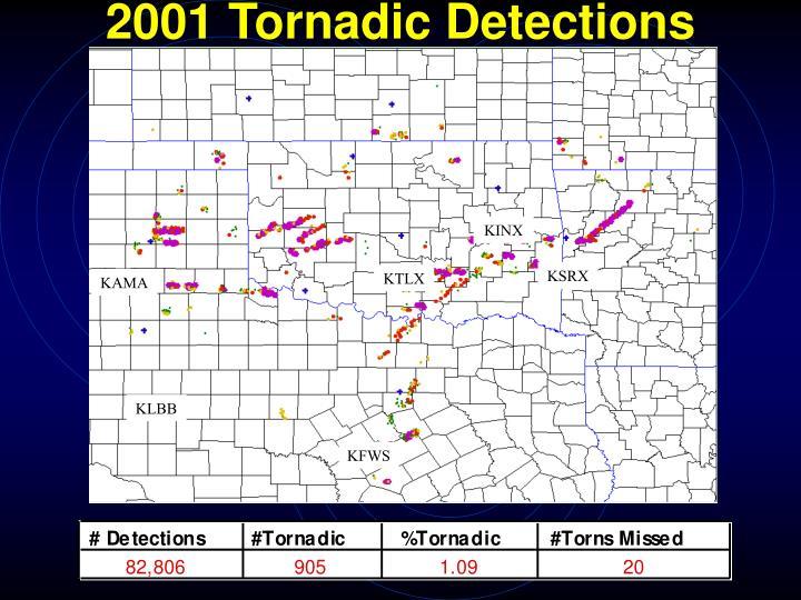 2001 Tornadic Detections