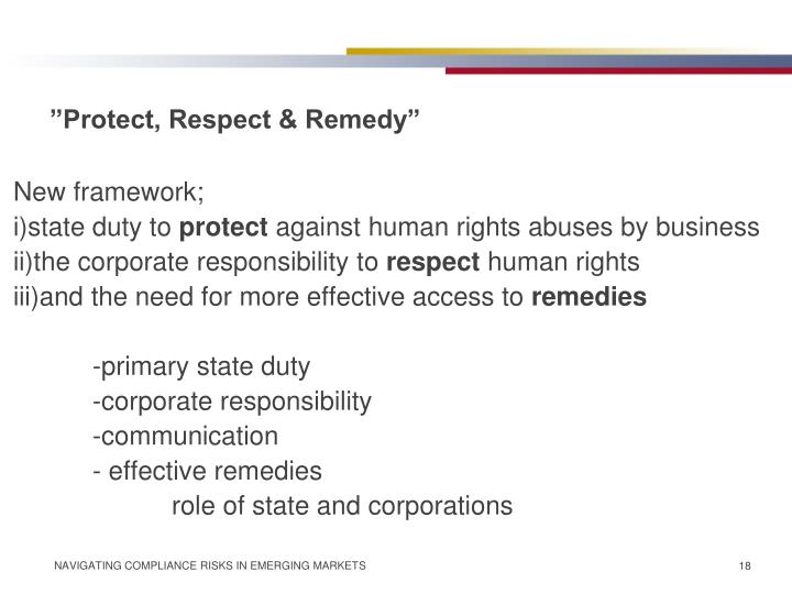 """Protect, Respect & Remedy"""