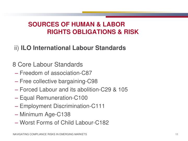 SOURCES OF HUMAN & LABOR