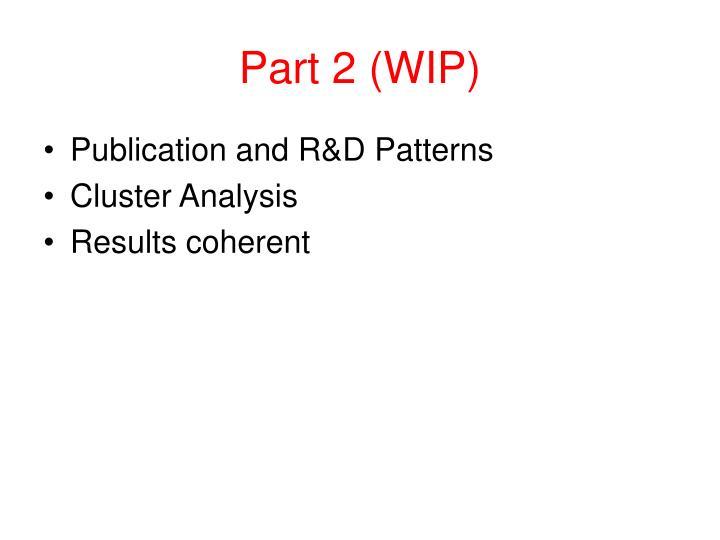 Part 2 (WIP)