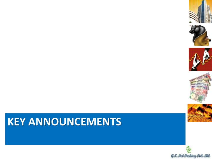 Key Announcements