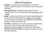 africa prospects