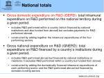 national totals