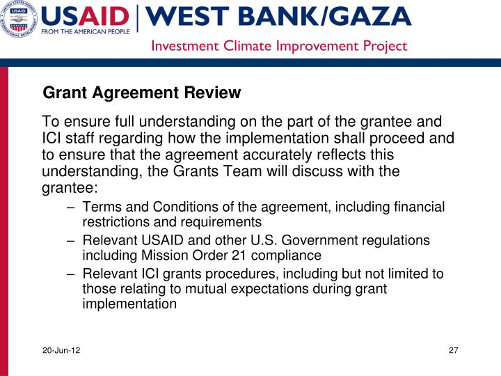 Grant Agreement Review