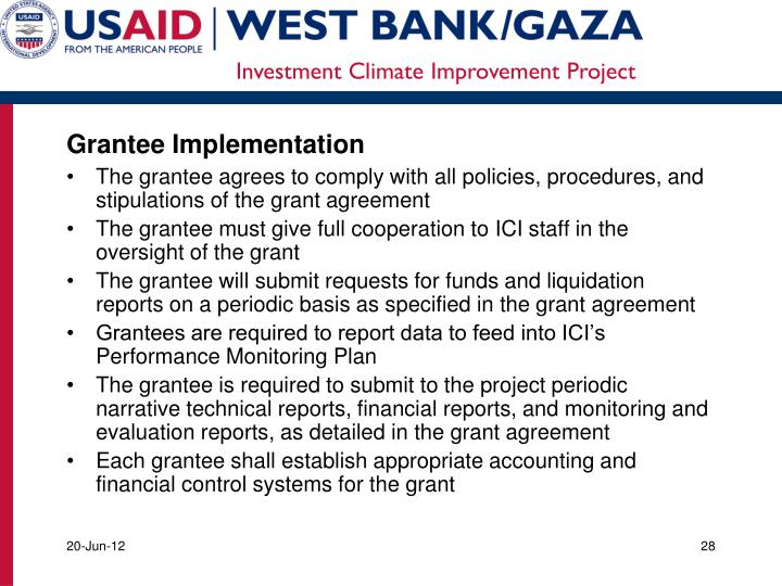 Grantee Implementation