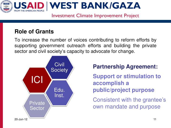 Role of Grants