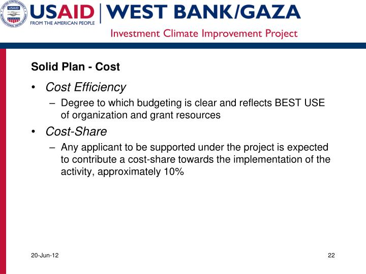 Solid Plan - Cost