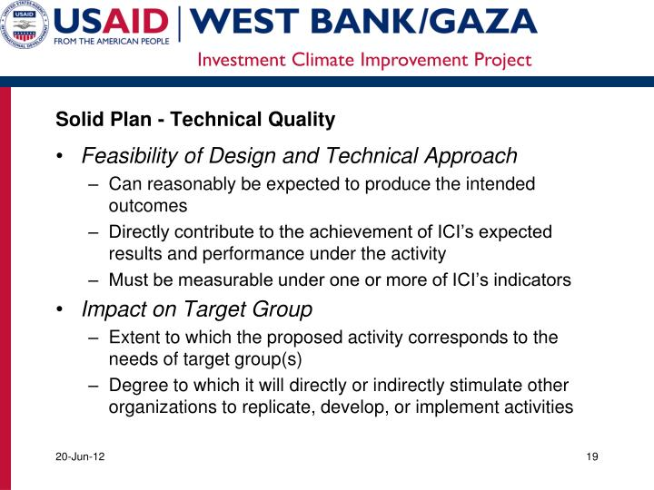 Solid Plan - Technical Quality