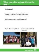 what does dorset want from the nff