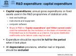 r d expenditure capital expenditure