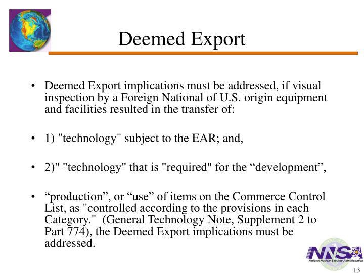 Deemed Export