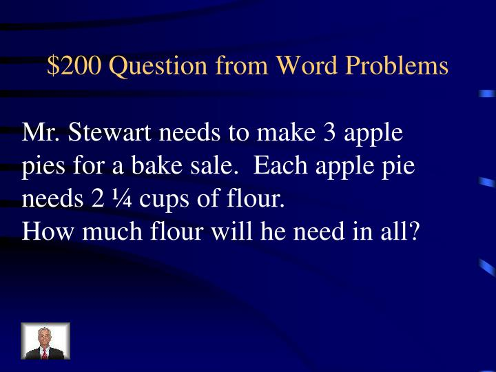 $200 Question from Word Problems