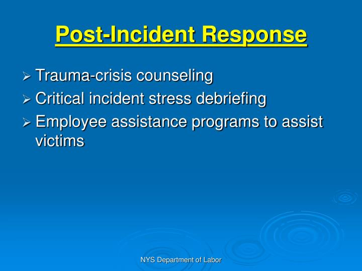 Post-Incident Response