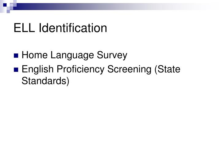 ELL Identification