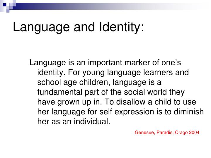 Language and Identity: