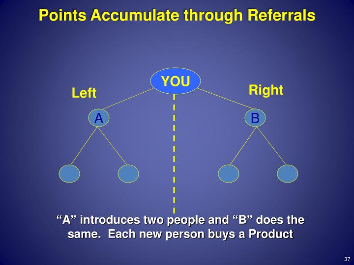 Points Accumulate through Referrals