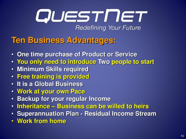 Ten Business Advantages: