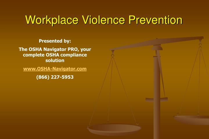 workplace violence prevention n.