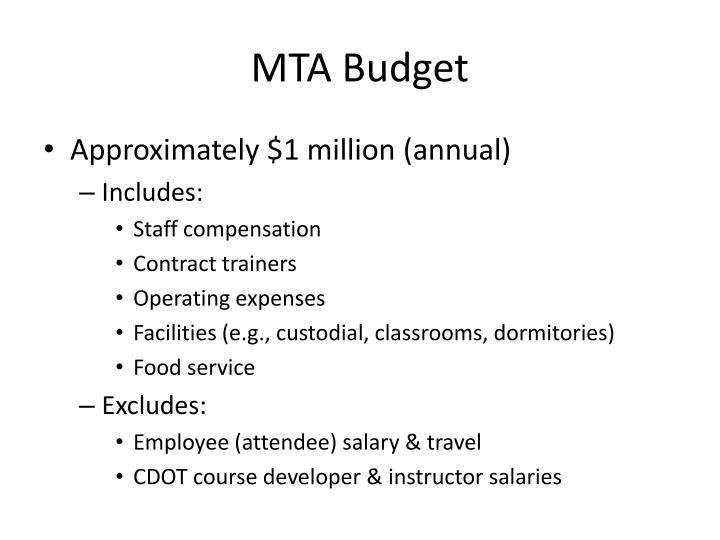 MTA Budget