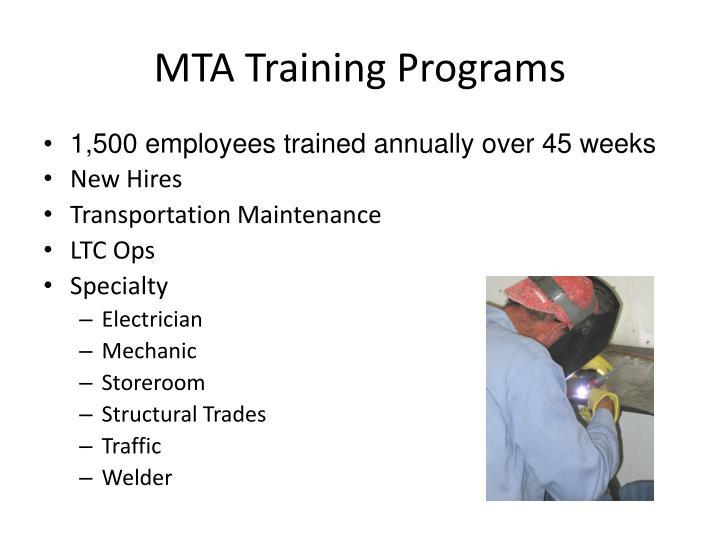 Mta training programs