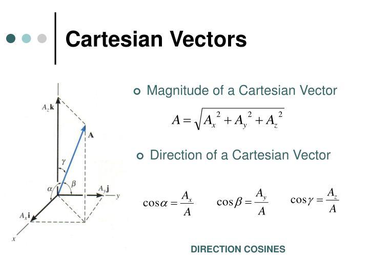 Cartesian Vectors