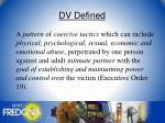 dv defined
