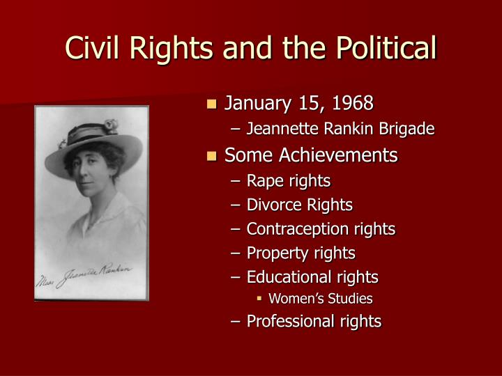 Civil Rights and the Political