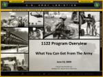1122 program overview what you can get from the army