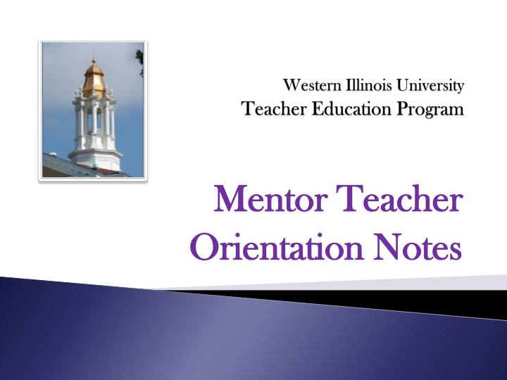 Western illinois university teacher education program