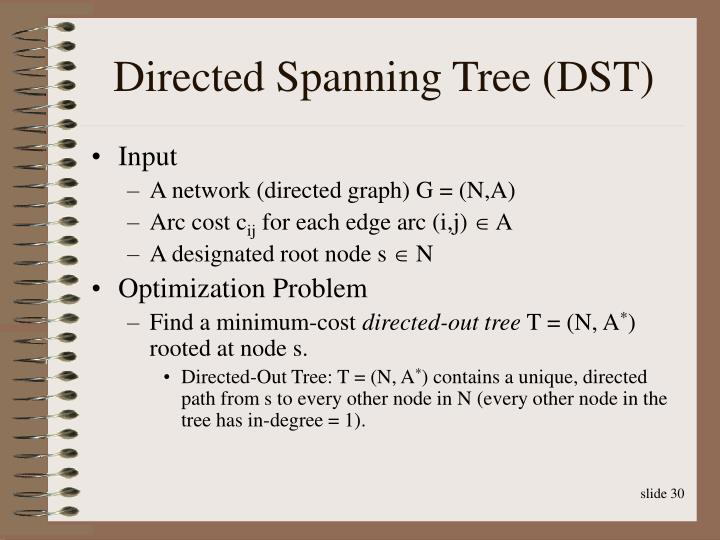 Directed Spanning Tree (DST)